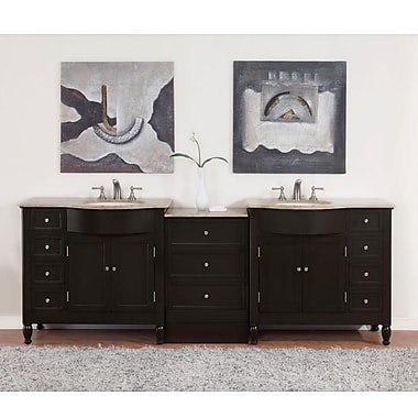Silkroad Exclusive Hamilton 95'' Double Bathroom Vanity Set