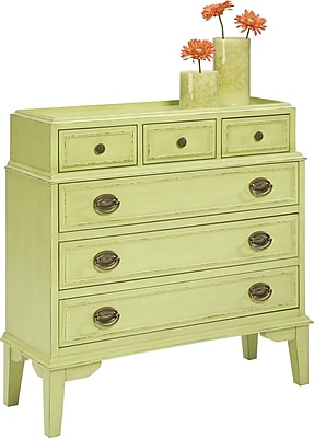 HeatherBrooke Pistachio Pudding 6 Drawer Accent Chest