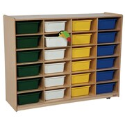 Wood Designs 24 Compartment Cubby w/ Casters