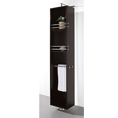 Wyndham Collection April 13.75'' W x 73'' H Wall Mounted Cabinet; Espresso