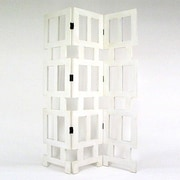 Wayborn 78'' x 54'' Grate 3 Panel Room Divider