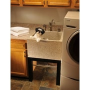 Quiescence Farm Charm 25'' x 24'' Single Deep Laundry Sink