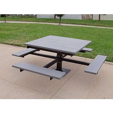 Frog Furnishings Recycled Plastic Picnic T-Table; Gray