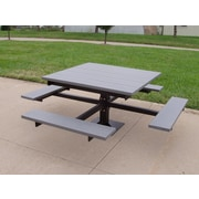 Frog Furnishings Recycled Plastic Picnic T-Table; Cedar