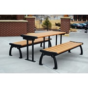 Frog Furnishings Heritage Recycled Plastic Picnic Table; Cedar