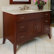 Kaco Metro 49'' Single Bathroom Vanity Set; Gold Hill Granite
