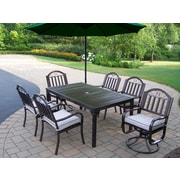 Oakland Living Rochester 7 Piece Swivel Dining Set w/ Cushions