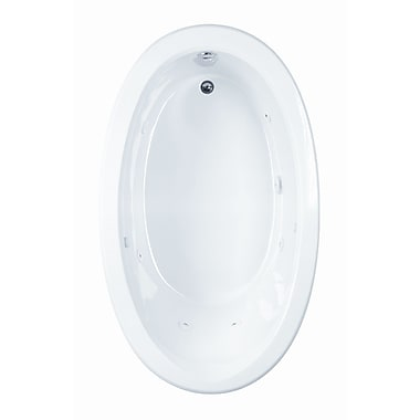 Reliance Whirlpools Reliance 59.5'' x 35.5'' Soaking Bathtub; Biscuit