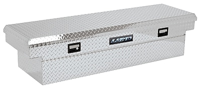 Lund Inc. Full Lid Cross Bed Truck Tool Box; Silver