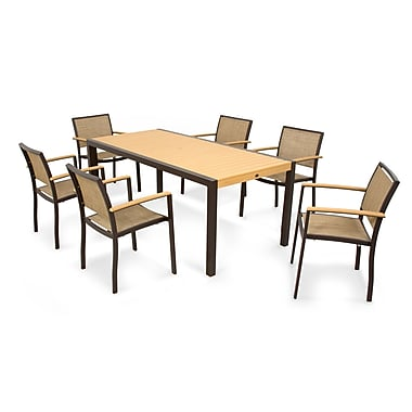 POLYWOOD Bayline? 7 Piece Dining Set; Burlap