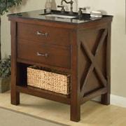 Direct Vanity Sink Xtraordinary Spa 33'' Single Bathroom Vanity Set; Black Granite
