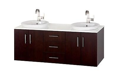 Wyndham Collection Arrano 55'' Double Bathroom Vanity Set w/ Mirror