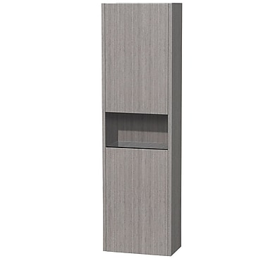 Wyndham Collection Diana 16.13'' W x 56.13'' H Wall Mounted Cabinet; Grey Oak
