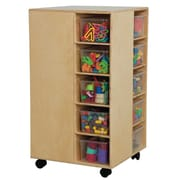 Wood Designs Space Saver 20 Compartment Cubby w/ Casters