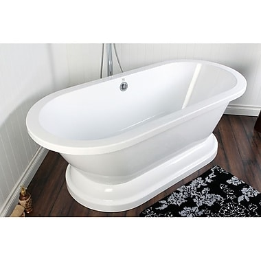 Kingston Brass Aqua Eden 31.5'' x 66.94'' Freestanding Soaking Bathtub