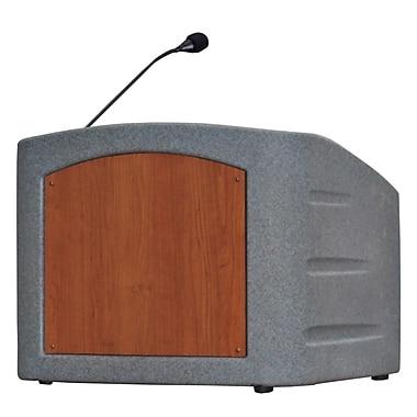 Summit Lecterns Dan James Original Freedom Tabletop Lectern; Gray Granite