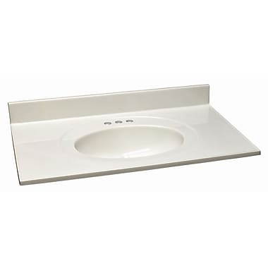 Design House 37'' Single Bathroom Vanity Top; White on White