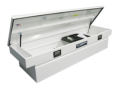 Lund Inc. Single Lid Cross Bed Truck Tool Box; White