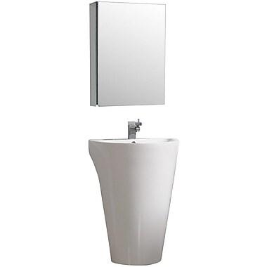 Fresca Parma 23'' Single Pedestal Modern Bathroom Vanity Set w/ Mirror