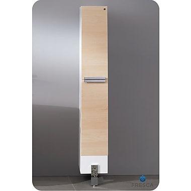 Fresca Adour 9.75'' x 75'' Surface Mount Medicine Cabinet; Light Walnut