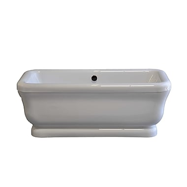 Strom Plumbing by Sign of the Crab Solitude 70'' x 34'' Soaking Bathtub; Oil Rubbed Bronze
