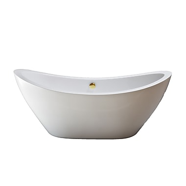 Strom Plumbing by Sign of the Crab Seneca 65'' x 31'' Soaking Bathtub; Supercoated Brass