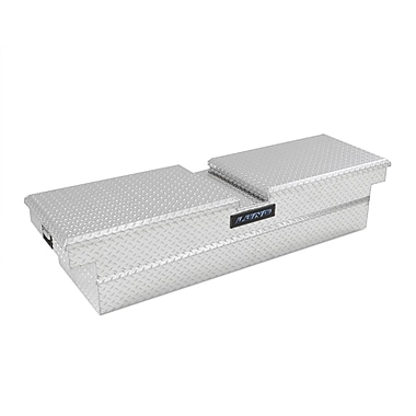 Lund Inc. Gull Wing Deep Well Cross Bed Truck Tool Box; Silver