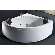 EAGO 59'' x 59'' Double Seat Corner Whirlpool Bathtub