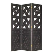 Wayborn 72'' x 54'' Geometric 3 Panel Room Divider