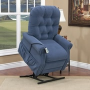 Med-Lift 25 Series 3 Position Lift Chair w/ Extra Magazine Pocket; Aaron - Williamsburg Blue