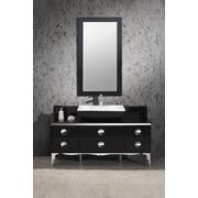 Fresca Moselle 59'' Single Modern Glass Bathroom Vanity Set w/ Mirror