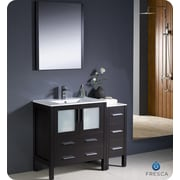 Fresca Torino 42'' Single Modern Bathroom Vanity Set w/ Mirror; Espresso