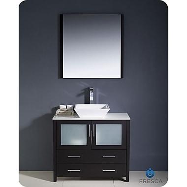 Fresca Torino 36'' Single Modern Bathroom Vanity Set w/ Mirror; Espresso