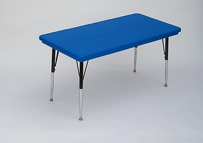 Correll, Inc. 72'' x 30'' Rectangular Activity Table; Red