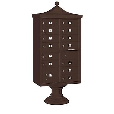 Salsbury Industries Regency 13 Door Rear Load 4C Horizontal Cluster Box Unit; Bronze
