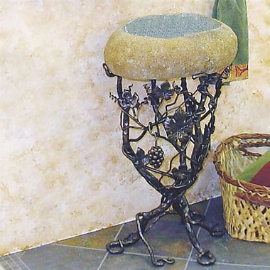 Quiescence Vineyard Metal 22'' Pedestal Bathroom Sink; Oil Rubbed Bronze