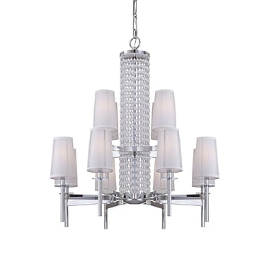 Designers Fountain Candence 12-Light Shaded Chandelier