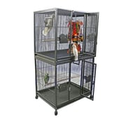 A&E Cage Co. Large Double Bird Cage; Black