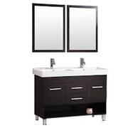 Kokols 48'' Double Bathroom Vanity Set w/ Mirror