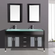 Kokols 63'' Double Bathroom Vanity Set w/ Mirror