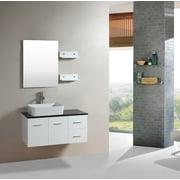 Kokols 35.5'' Single Floating Bathroom Vanity Set w/ Miror