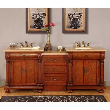 Silkroad Exclusive Emily 83'' Double Bathroom Vanity Set