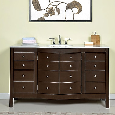 Silkroad Exclusive Prima 60'' Single Bathroom Vanity Set