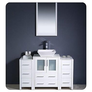 Fresca Torino 48'' Single Modern Bathroom Vanity Set w/ Mirror; White