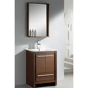 Fresca Allier 24'' Single Bathroom Vanity Set w/ Mirror; Wenge Wood