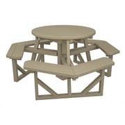 POLYWOOD  Park Picnic Table; Sand