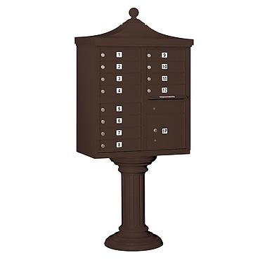 Salsbury Industries Regency 12 Door Front Load 4C Horizontal Cluster Box Unit w/ 1 Parcel Locker