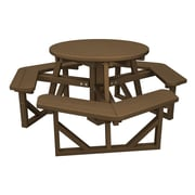 POLYWOOD  Park Picnic Table; Teak