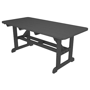 POLYWOOD Park Picnic Table; Slate Grey