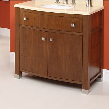 DecoLav Adrianna 36.25'' Bathroom Vanity Base; Medium Walnut
